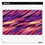 Rayas púrpuras de la puesta del sol del amarillo a MacBook air skin