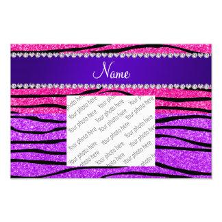 Rayas púrpuras de neón conocidas de la cebra del fotografía