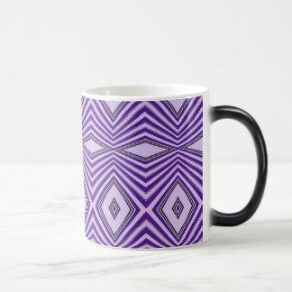 Rayas púrpuras del diamante taza de café