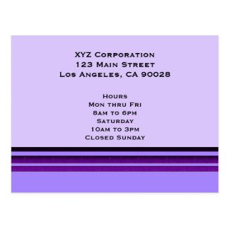 Rayas púrpuras del negocio postal