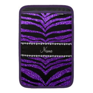 Rayas púrpuras del tigre del brillo del añil conoc funda  MacBook