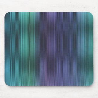 Rayas púrpuras del verde azul del trullo mouse pad