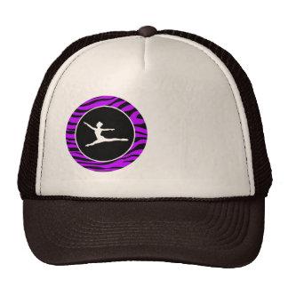 Rayas púrpuras eléctricas de la cebra; Ballet Gorras