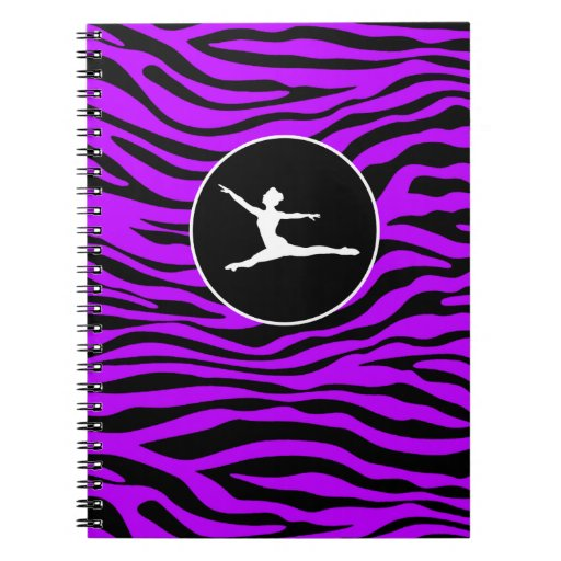 Rayas púrpuras eléctricas de la cebra; Ballet Libretas Espirales