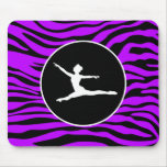 Rayas púrpuras eléctricas de la cebra; Ballet Tapetes De Ratón