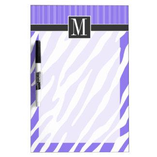 Rayas púrpuras elegantes de la cebra pizarras blancas de calidad