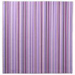 Rayas púrpuras finas servilleta