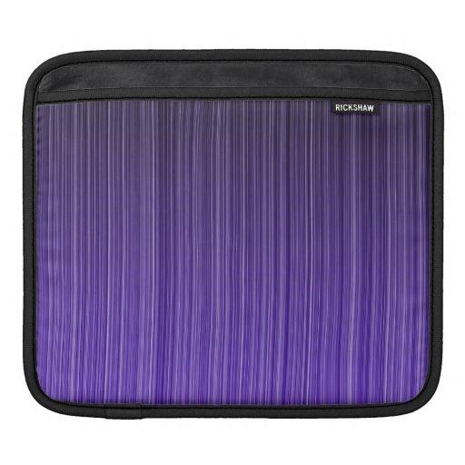 Rayas púrpuras fundas para iPads