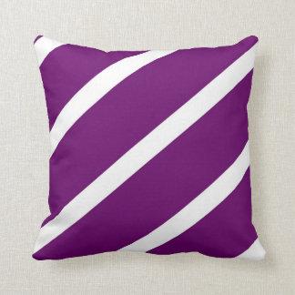 Rayas púrpuras oscuras almohadas