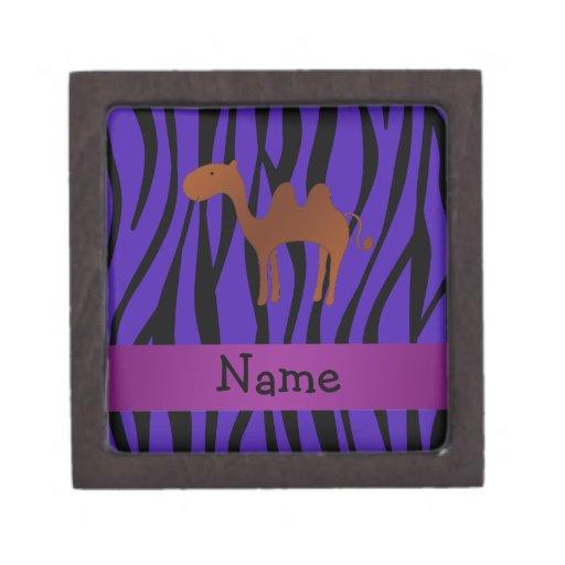 Rayas púrpuras personalizadas de la cebra del came caja de regalo de calidad