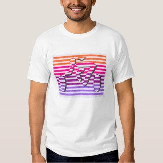 rayas púrpuras rosadas anaranjadas del ciclista fe playeras