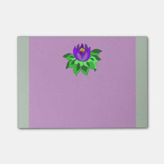 Rayas púrpuras vibrantes de la flor de Lotus Post-it Nota