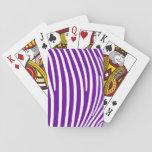 Rayas púrpuras violetas de la cebra cartas de juego