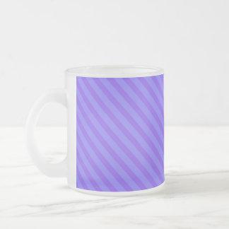 Rayas púrpuras violetas diagonales tazas