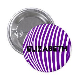 Rayas púrpuras violetas personalizadas de la cebra pins