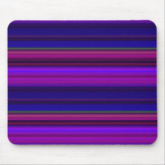 Rayas púrpuras y azules tapete de ratón