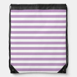 Rayas púrpuras y blancas de la lavanda; Rayado Mochila