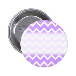 Rayas púrpuras y blancas del zigzag pin redondo de 2 pulgadas