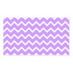 Rayas púrpuras y blancas del zigzag plantillas de tarjetas personales
