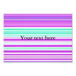 Rayas púrpuras y marinas blancas contemporáneas invitación 12,7 x 17,8 cm