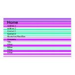 Rayas púrpuras y marinas blancas contemporáneas plantillas de tarjetas personales