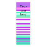 Rayas púrpuras y marinas blancas contemporáneas plantilla de tarjeta de negocio