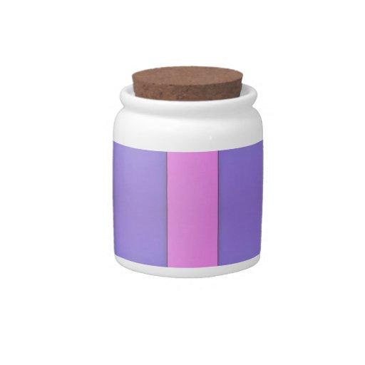 Rayas púrpuras y rosadas del arte geométrico abstr plato para caramelo