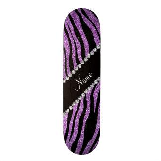 Rayas purpúreas claras conocidas de encargo del ti tabla de patinar
