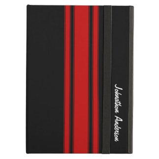 Rayas que compiten con rojas y negras modernas con