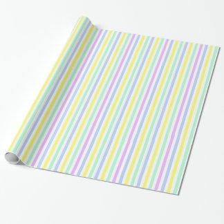 Rayas rayadas en colores pastel del papel de papel de regalo
