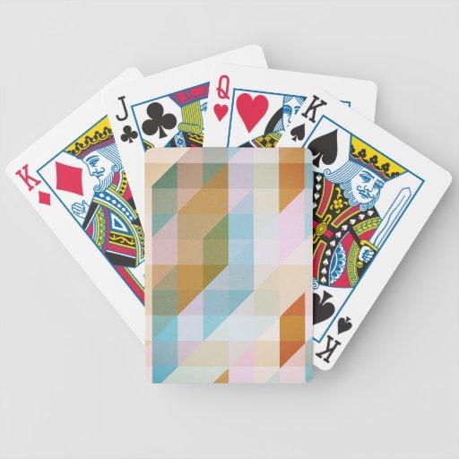 Rayas retras abstractas baraja de cartas
