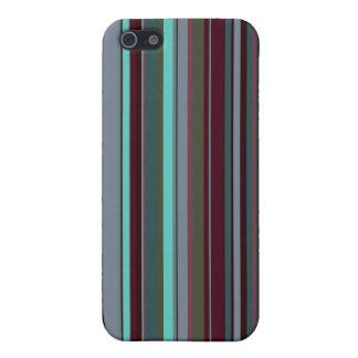 Rayas retras brillantes 60s iPhone 5 carcasa
