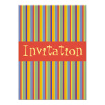 Rayas retras coloridas del principios de los 60 - invitación 12,7 x 17,8 cm