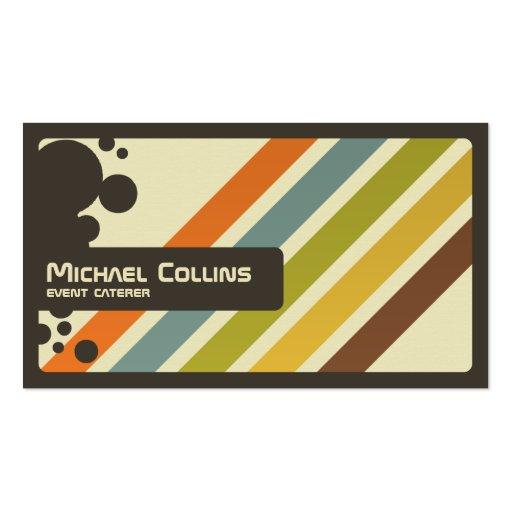 Rayas retras - estilo 2 tarjetas de negocios