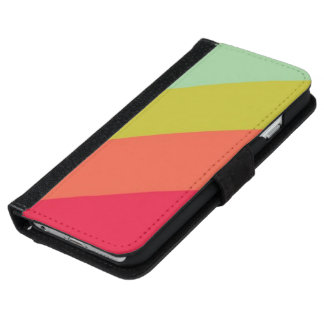 Rayas retras funda cartera para iPhone 6