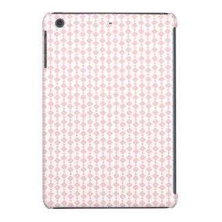 Rayas retras rosadas y blancas coralinas en colore fundas de iPad mini