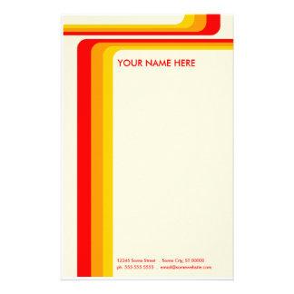 rayas retras: v.2: papelería personalizada