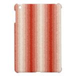 Rayas rizadas rojas iPad mini carcasas