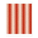 Rayas rizadas rojas postal