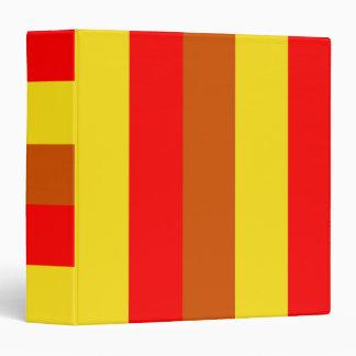 """Rayas rojas amarillas personalizadas personalizado carpeta 1 1/2"""""""