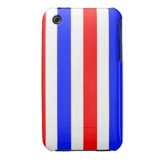 Rayas rojas, blancas y azules iPhone 3 cobertura