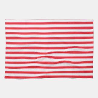 Rayas rojas, blancas y rosadas toallas