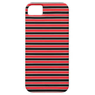 Rayas rojas, blancos y negros iPhone 5 carcasa