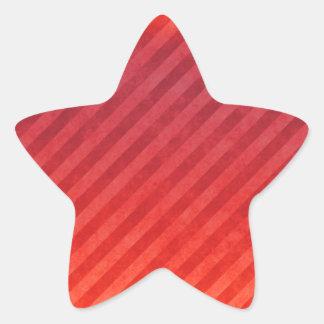 Rayas rojas brillantes calcomanías forma de estrellas