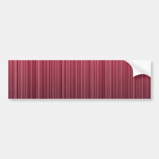 Rayas rojas pegatina de parachoque