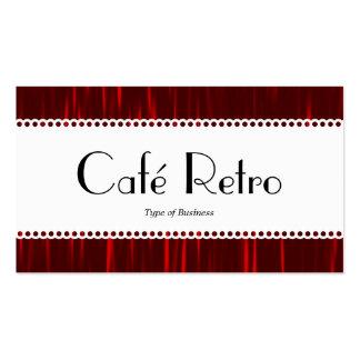 Rayas rojas (horneadas a la crema y con pan tarjetas de visita