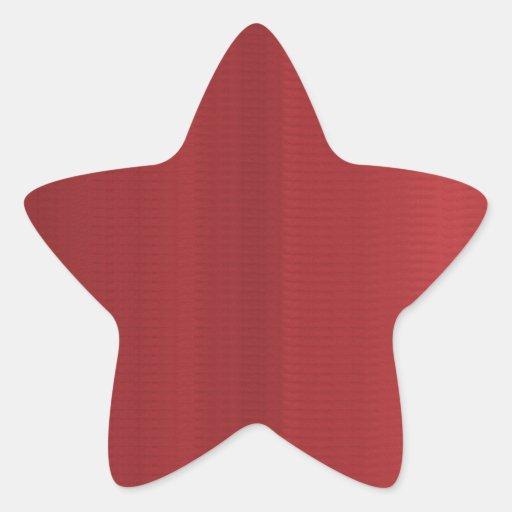 Rayas rojas sangre de las sombras calcomanías forma de estrella personalizadas