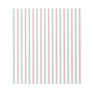 Rayas rojas, verdes, y blancas blocs de papel