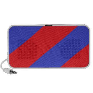 Rayas rojas y azules iPod altavoz