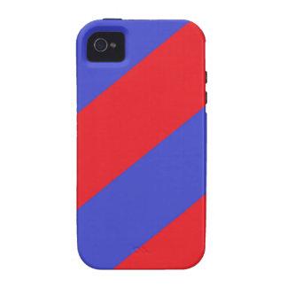 Rayas rojas y azules vibe iPhone 4 funda